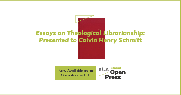 Essays on Theological Librarianship