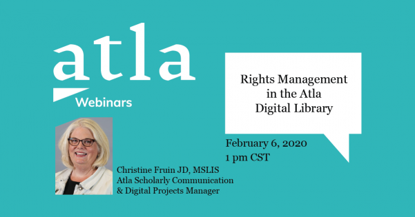 Rights Management in the Atla Digital Library