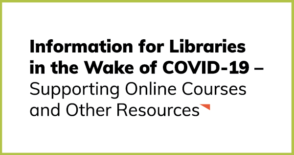 Supporting Online Courses and Other Resources
