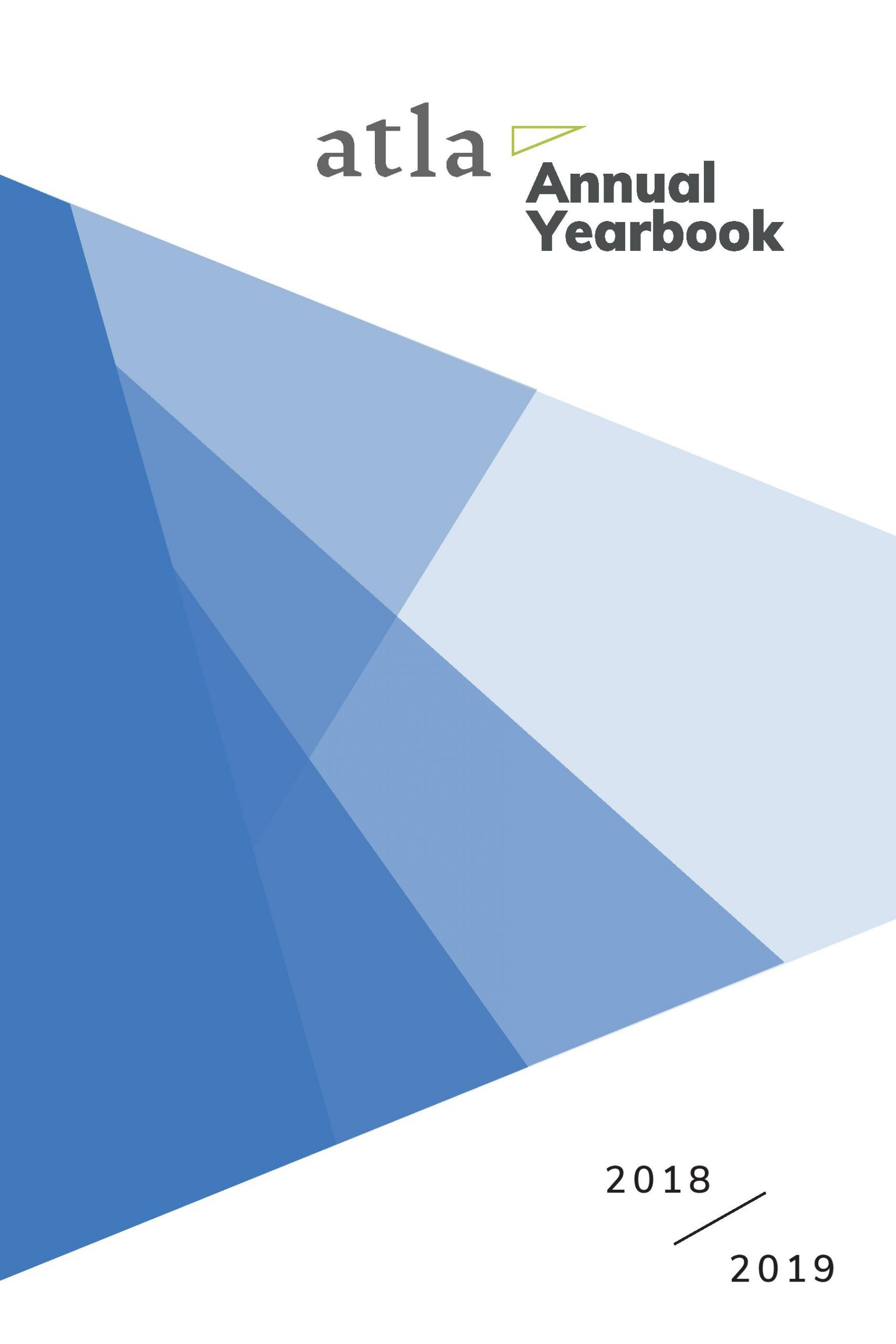 2019 Atla Annual Yearbook