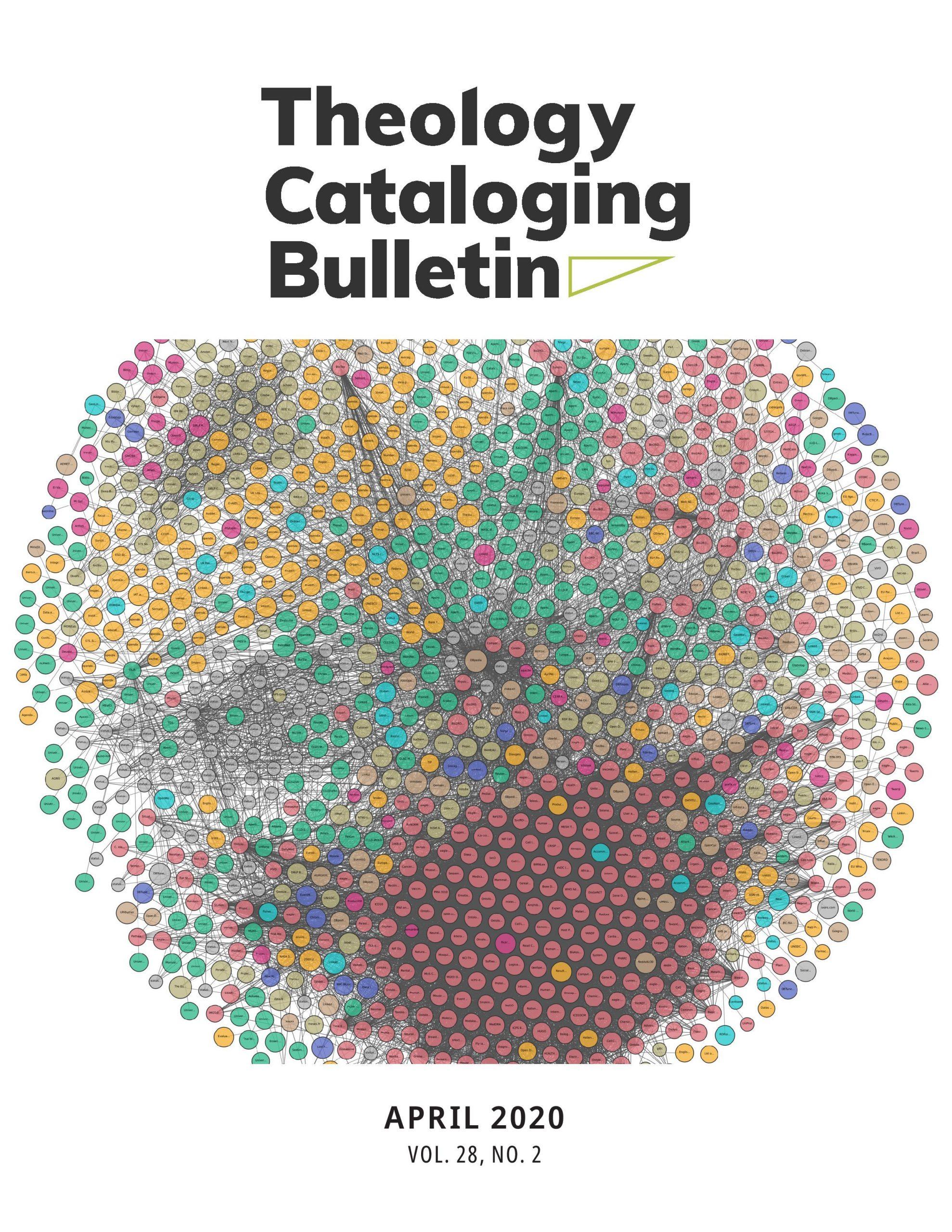 Theology Cataloging Bulletin April