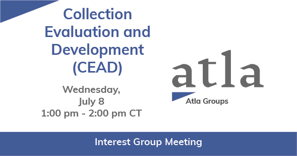 Collection Evaluation and Development Interest Group