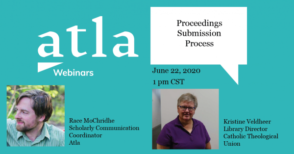 Proceedings Submission Process webinar
