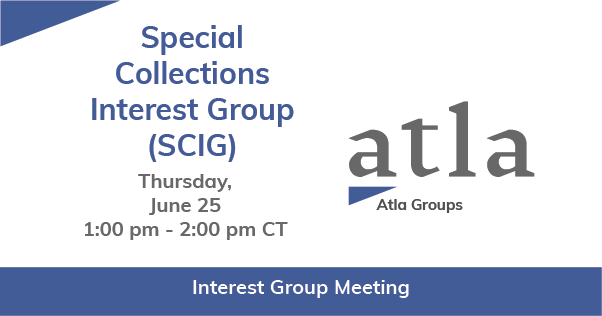 Special Collections Interest Group
