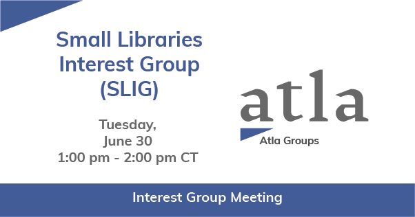 Small Libraries Interest Group