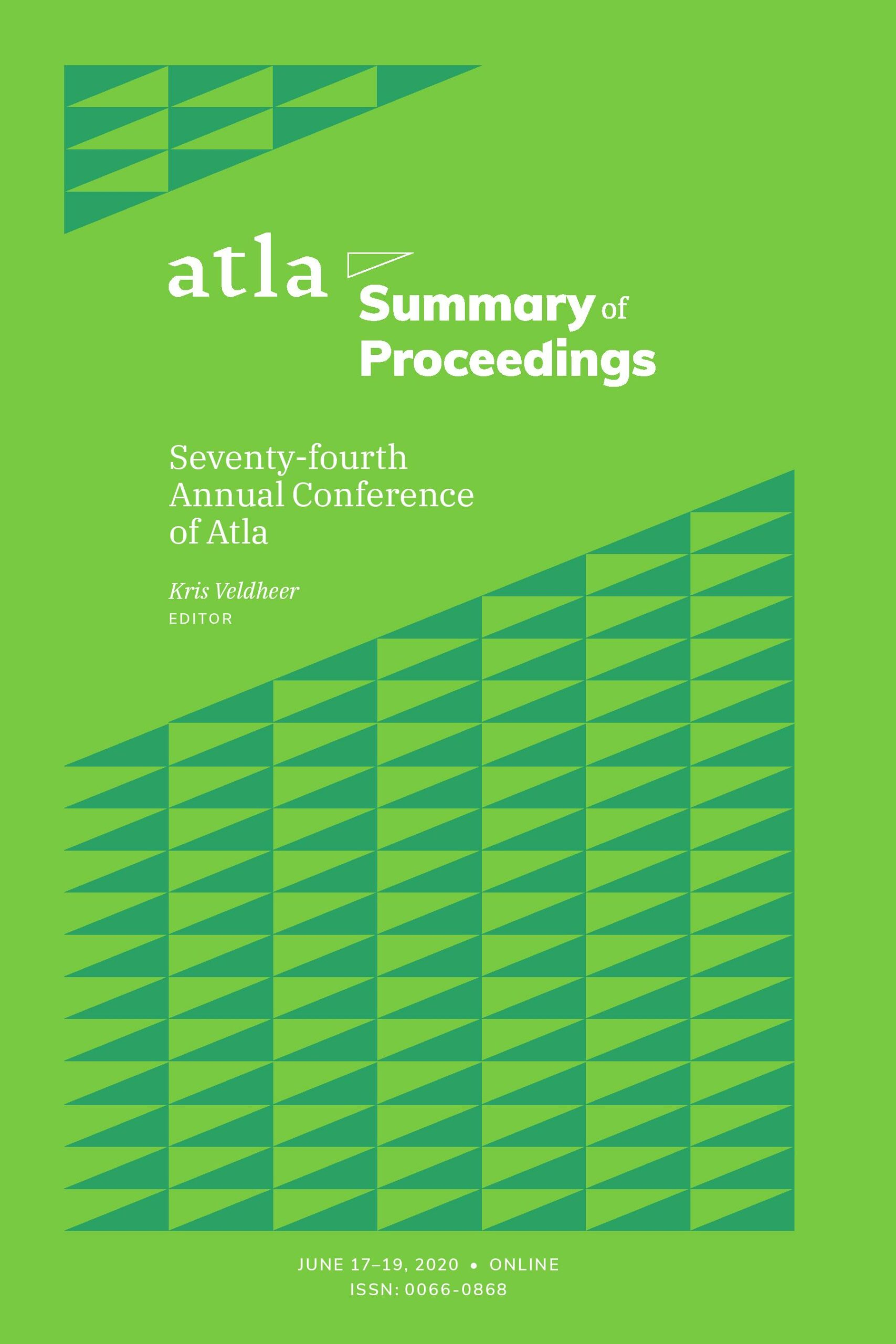 Summary of Proceedings 2020