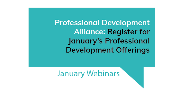 Professional Development Alliance January