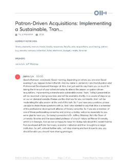 Patron-Driven Acquisitions Sustainable