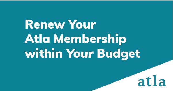 Renew Your Atla Membership